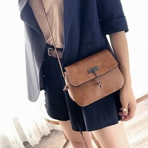 Handbags - Crossbody Stylish Leather Bag-Satchel Purse